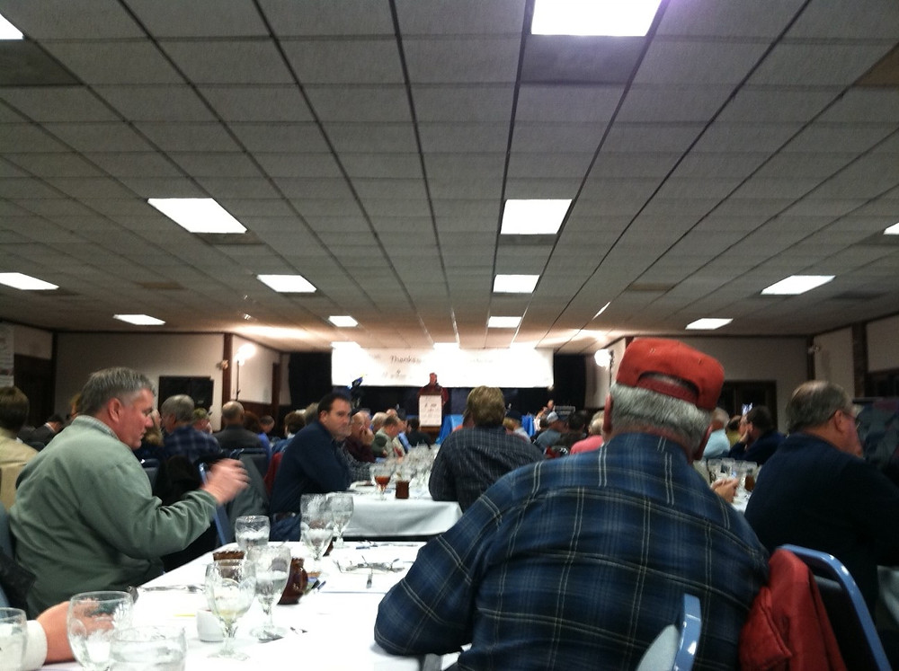 The WILL Radio / Illinois Public Media Ag Outlook Meeting at the Beef House in Covington, Indiana / CIFN file photo