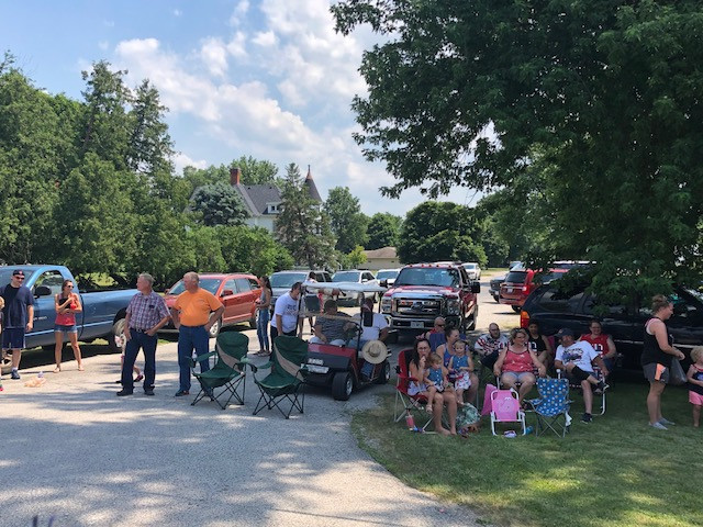 A crowd gathers to watch Saturday's Chenoa Fourth of July parade.