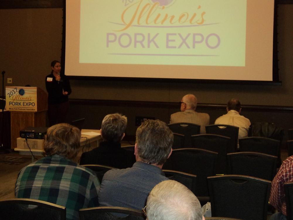 A seminar is presented during Pork Expo in Springfield / CIFN photo