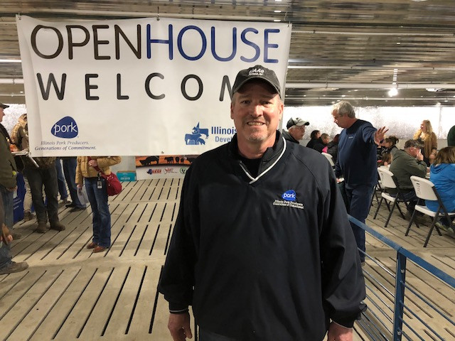 IPPA president Mike Haag is shown at a recent livestock open house event / CIFN photo.