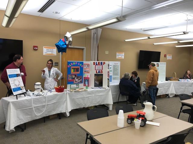 An ag health and safety fair is shown at St. James Medical Center in Pontiac last week / CIFN photo.