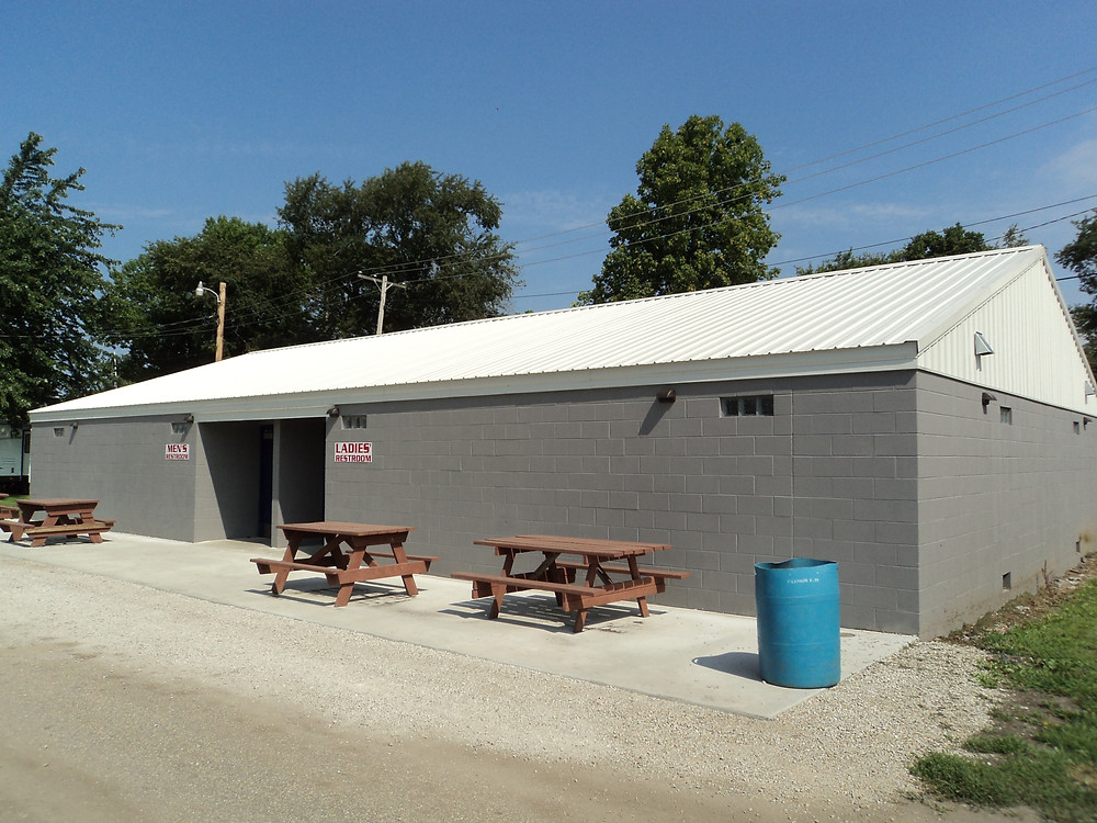 A new restroom facility is shown at the Fairbury Fairgrounds / CIFN photo.