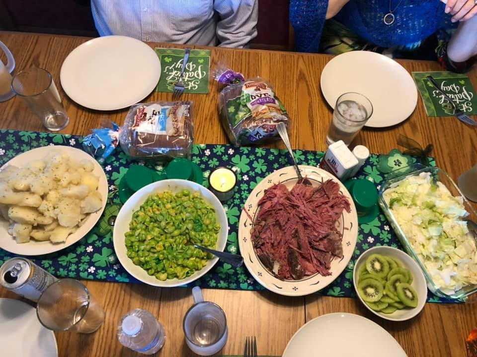 The Casson St. Patrick's Day feast from March 17 / photo courtesy of Rebecca Casson.