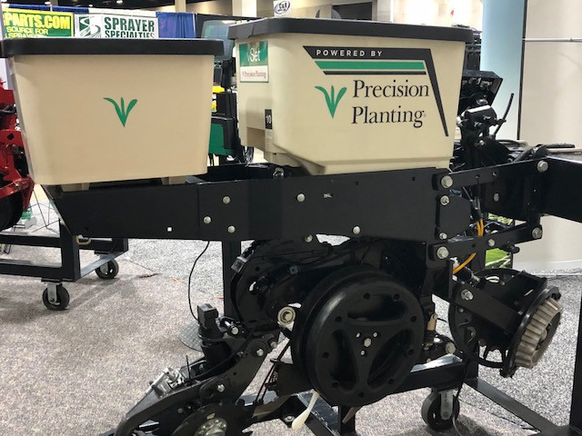 The Precision Planting display is shown during the recent Greater Peoria Farm Show / CIFN photo.