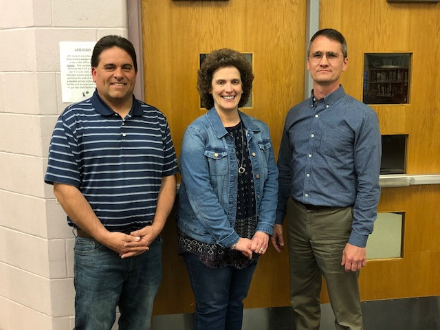 Outgoing members of the PC Board, shown last week, include: Tim McGreal, Ann Steidinger and Corey Steffen.