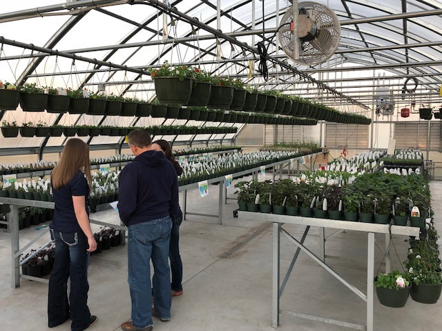 The Flanagan-Cornell FFA greenhouse is shown on Saturday / CIFN photo.