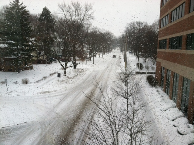 Virginia Avenue is shown in Normal during a previous winter / EOCI file photo.