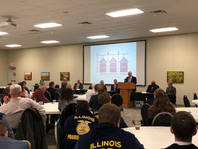 A grain safety meeting was held at the Asmark Institute in Bloomington last week / CIFN photo.