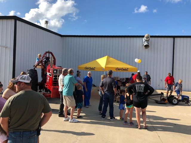 Customers attend the Birkey's Farm Store appreciation event in July / CIFN photo.