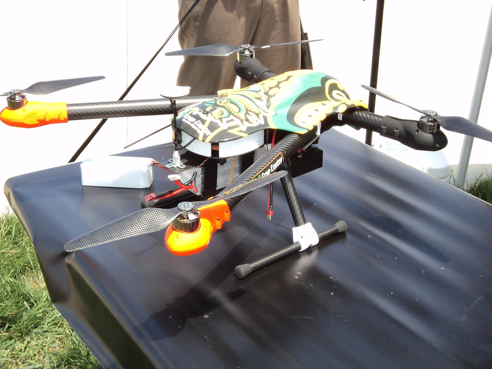 A drone is shown during an event in Bloomington last summer / CIFN file photo.