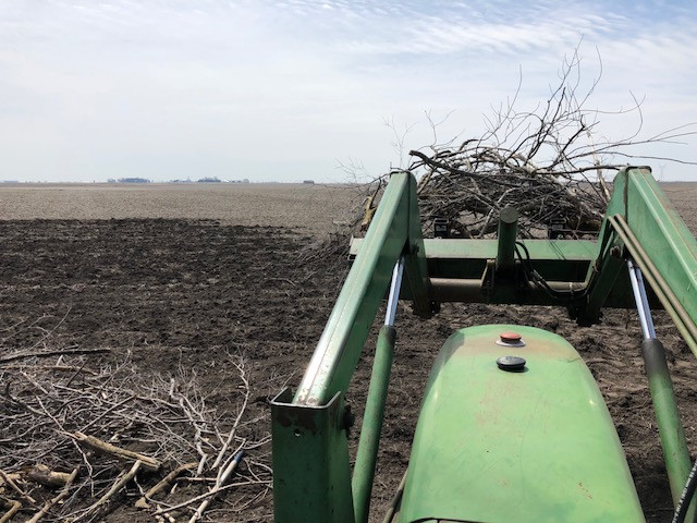 Kent does some work on the edge of a field last week / CIFN photo.