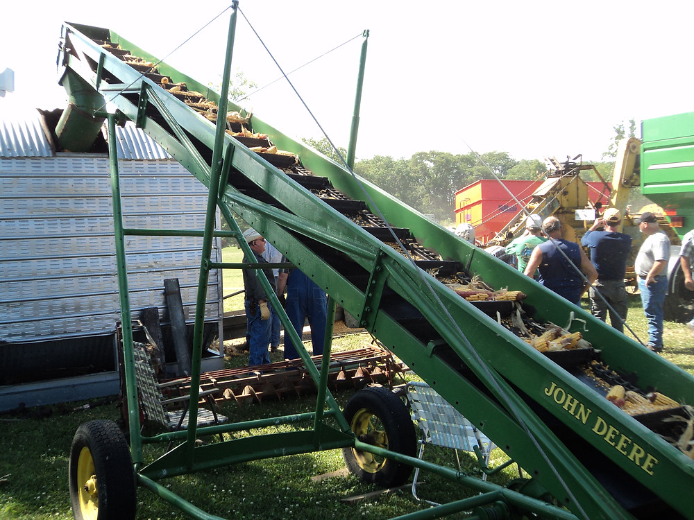 One of the many historical ag displays is shown at Historic Farm Days near Penfield on Friday / CIFN photo.