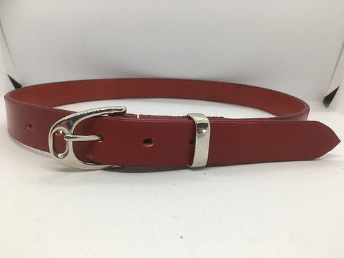 Redcar Red Stirrup Belt