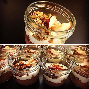 Lille lækker dessert med æbler fra _birk