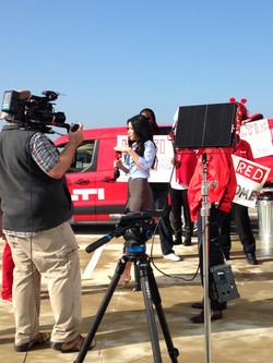 Reporter film scene