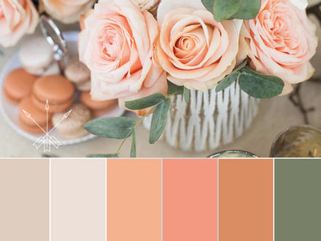 Color Mood Board for Autumn Wedding
