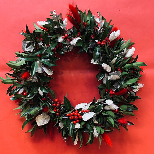 Peppermint & Green Wreath