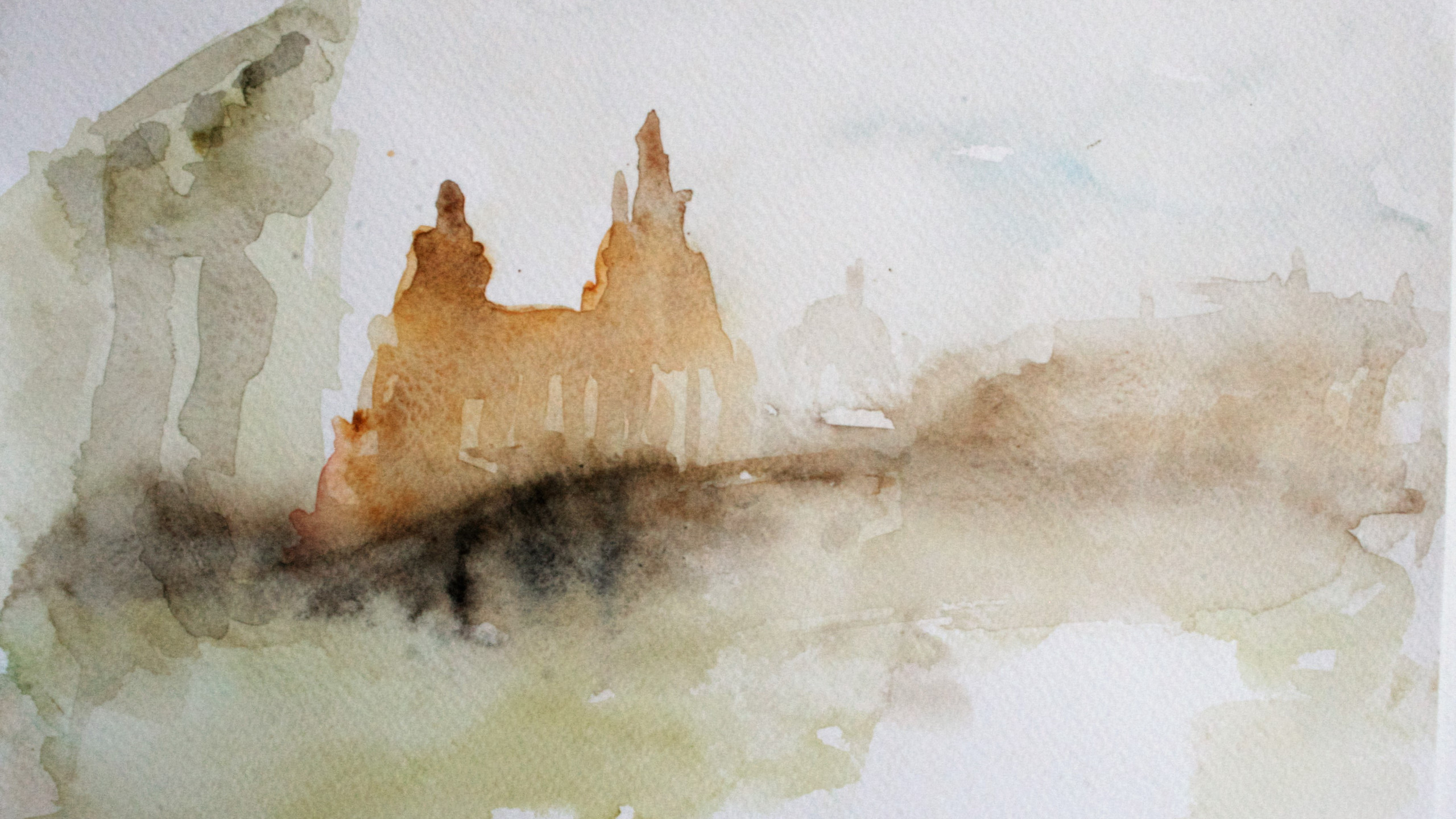 Leaving of Liverpool (Watercolour 21 x 30 cm)