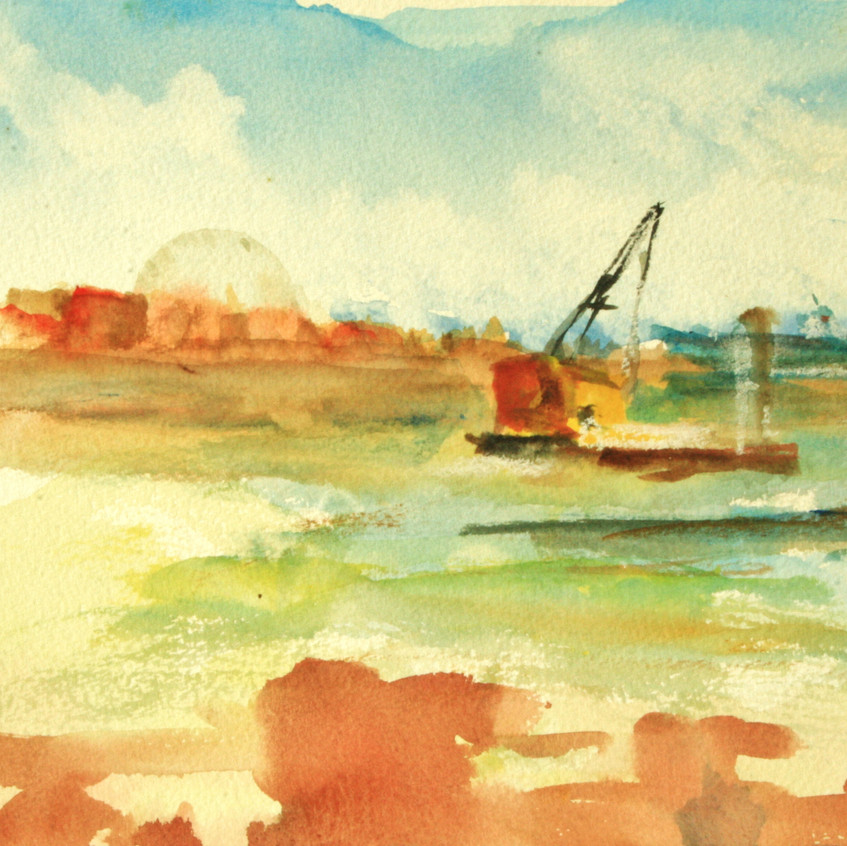 view of boat with crane from Snowdrop