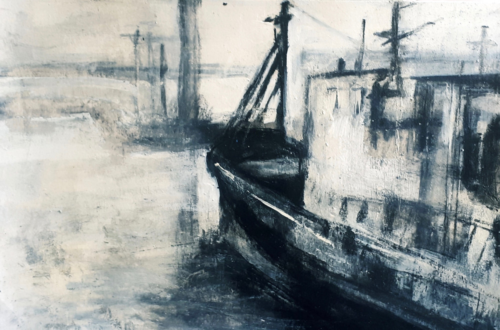 Charcoal, Gesso and Tempera Drawing