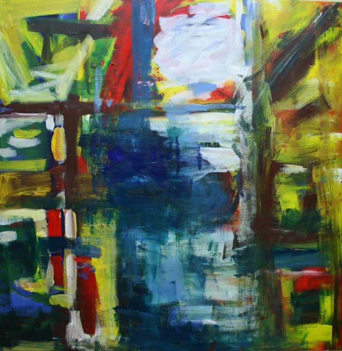 acrylic on canvas 100 x 100 cm