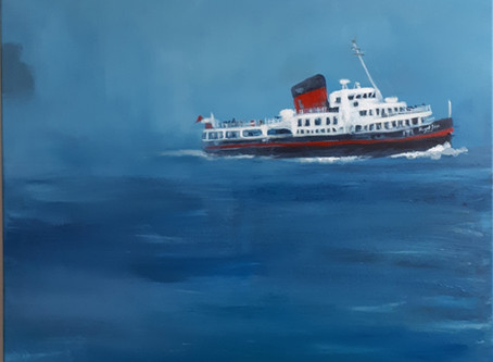 Royal Iris Mersey Ferry (acrylic on canvas, 80 x 80 cm)