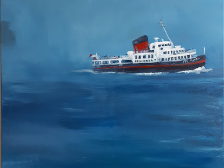 Royal Iris Mersey Ferry (acrylic on canvas, 80 x 80 cm)