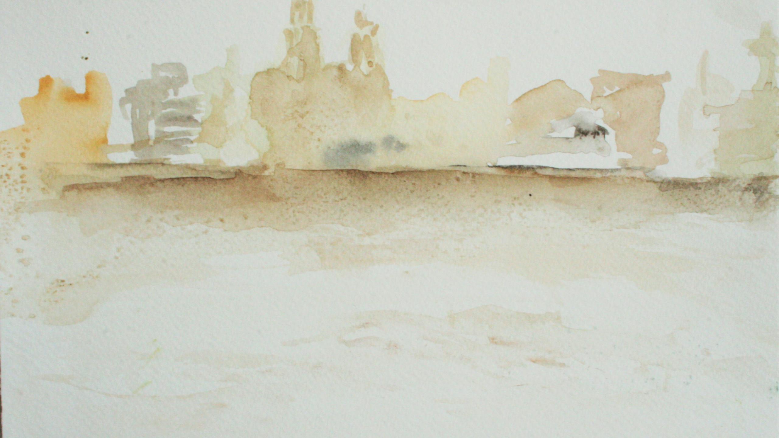 Liverpool Waterfront II (Watercolour 21 x 30)