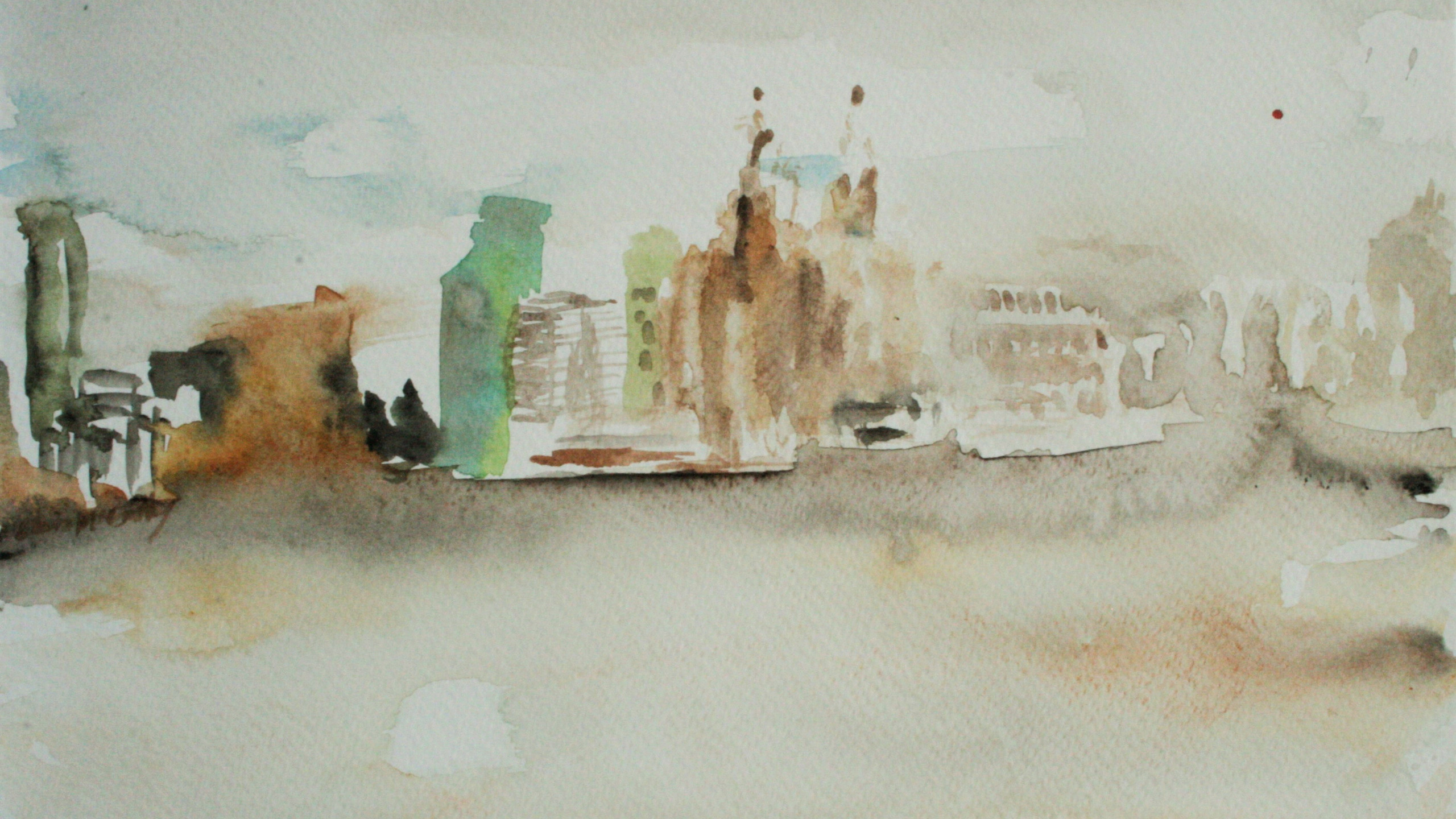 Liverpool Waterfront 1 (Watercolour 21 x30 cm)