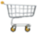 empty-supermarket-trolley-with-yellow-wh