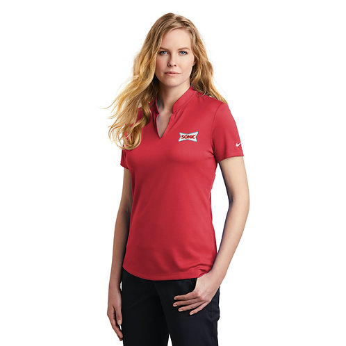 NKAA1848 LADIES DRI-FIT HEX V-NECK TOP
