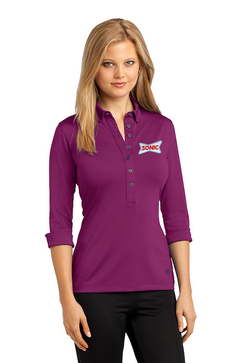 LOG122 OGIO LADIES GAUGE 3/4 SLEEVE POLO