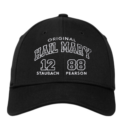 The Original Hail Mary New Era Cap. Direct embroidered front and back with  the Original Hail Mary logo on the front and Roger s and Drew s signature  on the ... 827a99b97d1