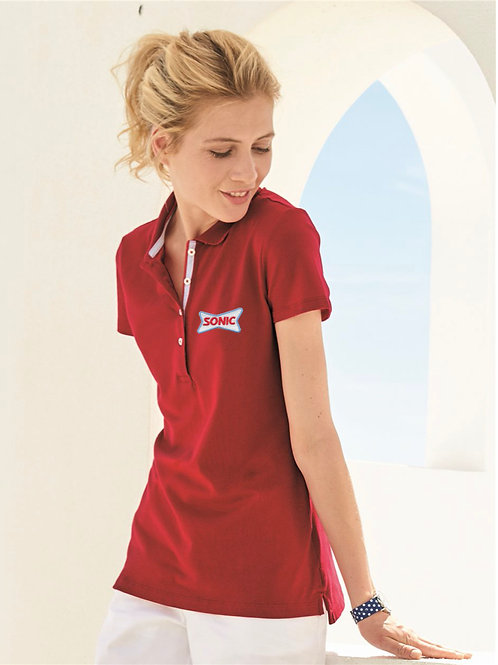 41013 TOMMY HILFIGER LADIES CLASSIC FIT IVY PIQUE SPORT POLO SHIRT