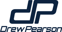 New Drew Pearson Stacked Logo Navy 98 84