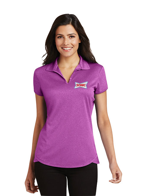 L576 PA LADIES PERFORMANCE TRACE HEATHER SONIC POLO