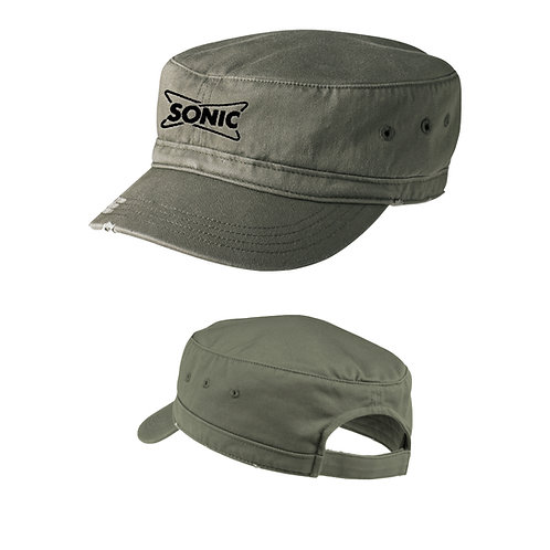 DT605 DISTRICT ENZYME WASHED MILITARY FASHION CAP