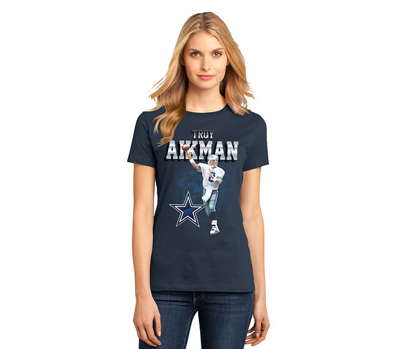 Troy Aikman Ladies Solo Graphic T-Shirt