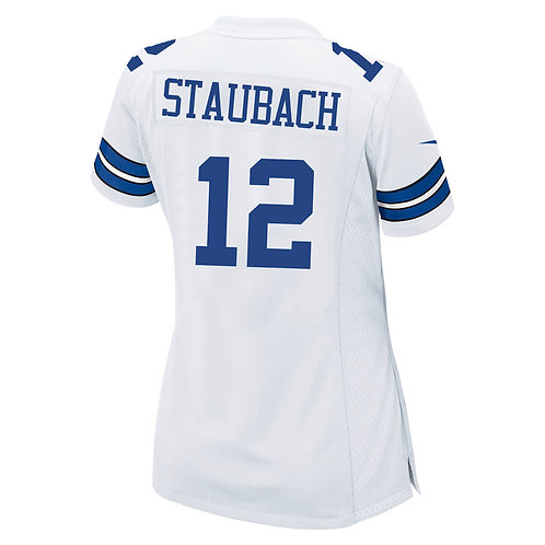 Roger Staubach Ladies Nike Game Replica White Jersey