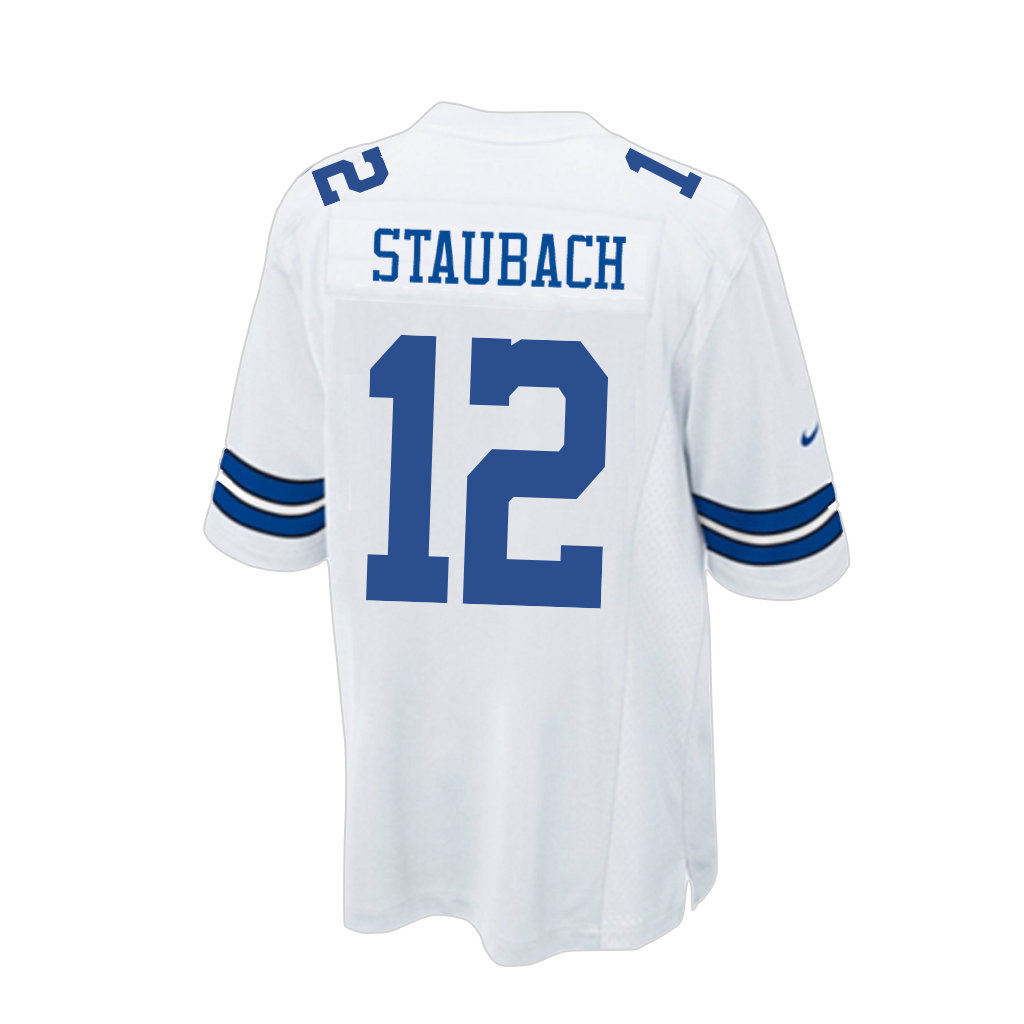 Roger Staubach Nike Game Replica White Jersey | Cowboys Legends