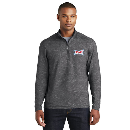 ST855 STRETCH REFLECTIVE HEATHER 1/2 ZIP PULLOVER