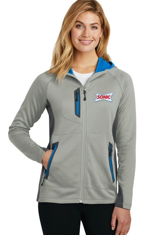 EB245 LADIES HOODED FULL-ZIP FLEECE HOODIE