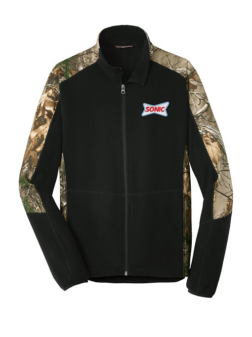 F230C COLORBLOCK REALTREE FLEECE FULL ZIP JACKET