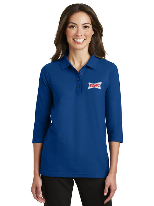 L562 PA 3/4 SLEEVE SPORT PIQUE SONIC POLO