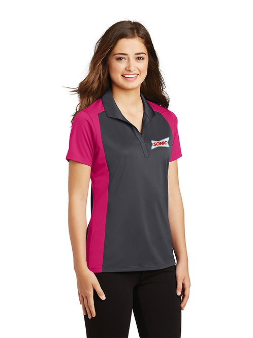 LST652 LADIES COLORBLOCK PERFORMANCE POLO