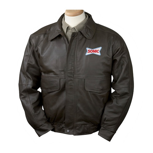 BB1011 CLASSIC BROWN LEATHER BOMBER JACKET