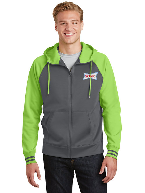 ST236 COLORBLOCK FULL ZIP HOODED JACKET