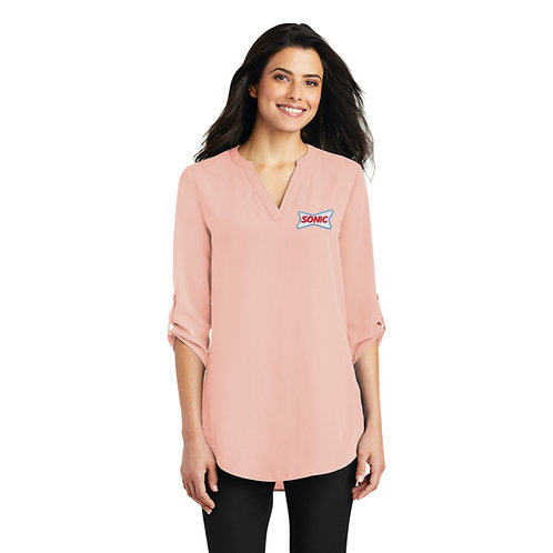 LW701 LADIES 3/4 SLEEVE TUNIC BLOUSE