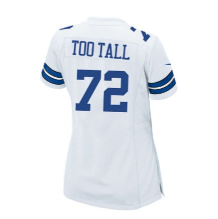 Ed Too Tall Jones Ladies Nike Game Replica Jersey