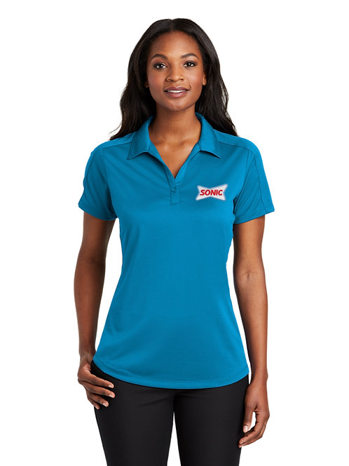 L569 PA LADIES PERFORMANCE DIAMOND JACQUARD SONIC POLO